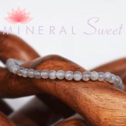 Bracelet Agate Perles rondes 4mm