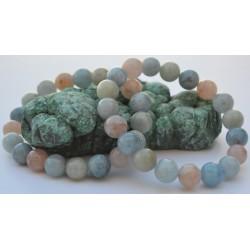 Bracelet Aigue-marine et Morganite  IGMAM10