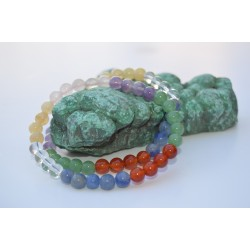 Bracelet  pierres 7 chakras 6mm
