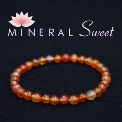 Bracelet Cornaline perles rondes 6mm