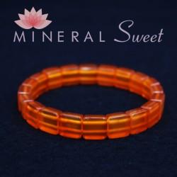 Bracelet Cornaline Square 10mm