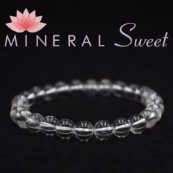 Bracelet Cristal de roche perles rondes 8mm