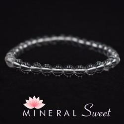 Bracelet Cristal de roche perles rondes 6mm