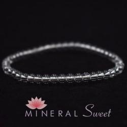 Bracelet Cristal de roche perles rondes 4mm