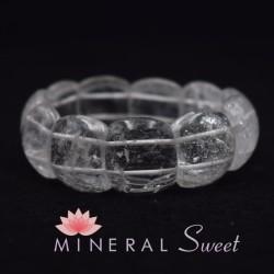 Bracelet Cristal de roche grand cabochon