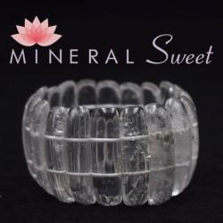 Bracelet Cristal de roche lamelles