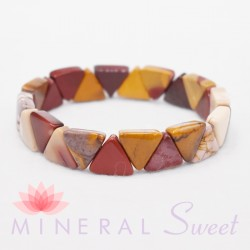 Bracelet Jaspe Mokaïte triangle