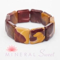 Bracelet Jaspe mokaïte square 20mm