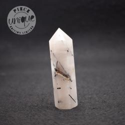 Obélisque Cristal de Roche avec inclusions de tourmaline noire 9