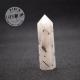 Obélisque Cristal de Roche avec inclusions de tourmaline noire 5