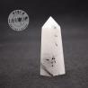 Obélisque Cristal de Roche avec inclusions de tourmaline noire 2