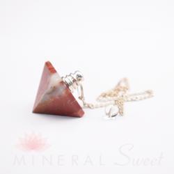 Jaspe Rouge pendule pyramide