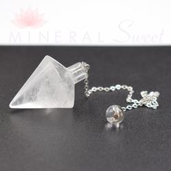 Pendentif  Cristal de Roche Biterminé 01