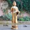 Bouddha debout bronze