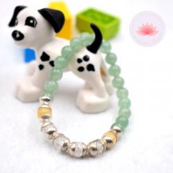 Bracelet fille en Aventurine, Cristal de roche et Calcite jaune