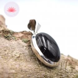 Pendentif Tourmaline noire et argent Grand Modèle