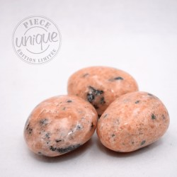 Calcite orange lot 3 galets ARG7