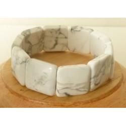 Bracelet Howlite square 20mm