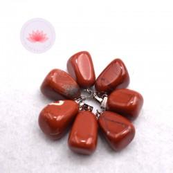 Pendentif Jaspe rouge + attache métal