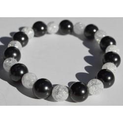 Bracelet Shungite et Cristal de roche