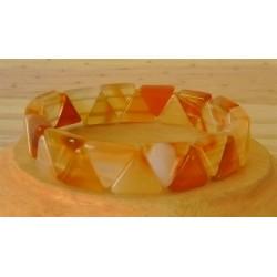 Bracelet Cornaline triangle
