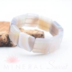 Bracelet Agate square 20mm