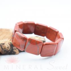 Bracelet Jaspe rouge square 20mm