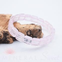 Bracelet Quartz rose square 10mm