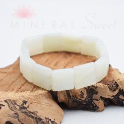Bracelet Jade square 14mm