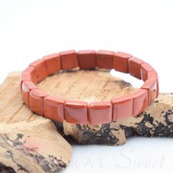 Bracelet Jaspe rouge square 10mm