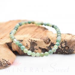 Bracelet Agate mousse Perles rondes 4mm