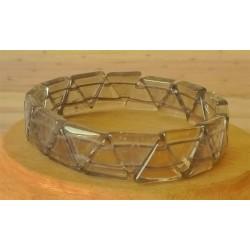 Bracelet Quartz fumé triangle