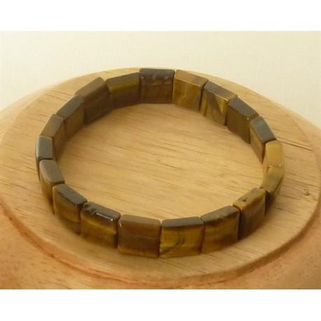 Bracelet Oeil de tigre square 10mm