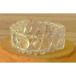 Bracelet Cristal de roche losange