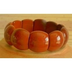 Bracelet Jaspe rouge grand cabochon
