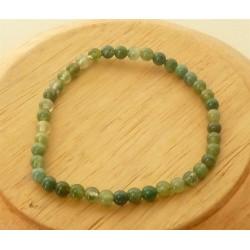 Bracelet Agate mousse Perles rondes